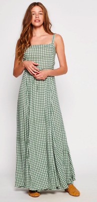 $200 • Buy Auguste The Label Gingham Panelled Maxi Dress / Size Medium