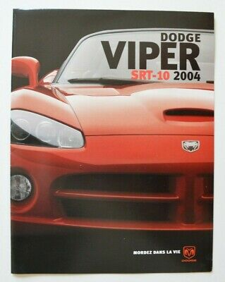 $23.90 • Buy DODGE VIPER SRT-10 2004 Dealer Brochure - French - Canada