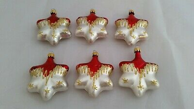$ CDN35 • Buy BEAUTIFUL Vintage Christmas GLASS STAR ORNAMENTS. A Must See!