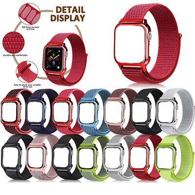 AU9.99 • Buy 40/44mm Nylon Sport Loop IWatch Band Strap For Apple Watch Series SE 6 5 4 3 2 1