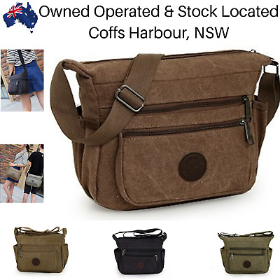AU28.99 • Buy Mens Canvas Bag Shoulder Messenger School Bags Military Vintage Travel Satchel