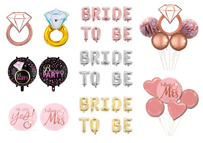 AU5.99 • Buy Foil Balloon Engagement Party Bachelorette Wedding Hen's Night Colourful Decor