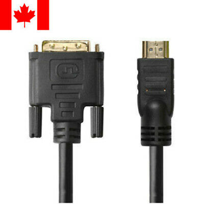 $ CDN16.99 • Buy 25ft HDMI To DVI-D Dual Link 28AWG High Speed Cable W/Ferrite Cores