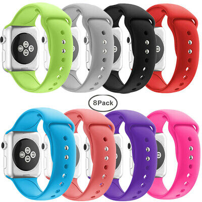 $ CDN36.66 • Buy Sport Silicone Bands For Apple Watch IWatch Series 4/3/2/1 38/42/40/44mm 8 Pack