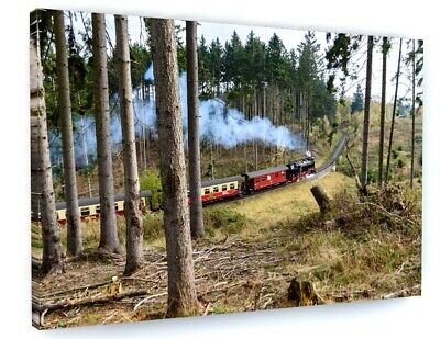 £31.02 • Buy Steam Train Canvas Picture Print Wall Art 6618