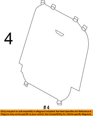 $61.41 • Buy FORD OEM 11-16 Explorer Third Row Seat-Seat Back Panel Right BB5Z7860508A