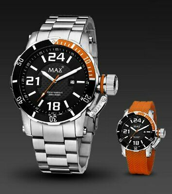 Max XL Quartz Watch With Black Dial Analogue Display Interchangeable Strap • 160£