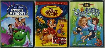 Pete's Dragon / The Secret Of Nimh / The Water Babies DVD NEW • 17.71£