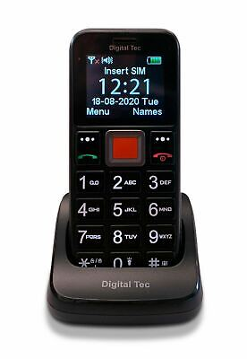 Big Button Mobile Phone For The Elderly, Unlocked, SOS Button, Cradle • 19.99£