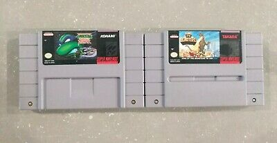 $ CDN49.99 • Buy Super Nintendo SNES Games Lot Bundle Of 2 Games Turtles Fight King Of Monsters