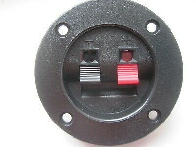 £2.50 • Buy 2 Way Speaker Box Terminal / Binding Post / Round Cup Spring Clip Plate