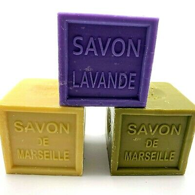 Savon De Marseille CUBE 300g French Natural Soap Pur 72% D'huile  • 4.95£