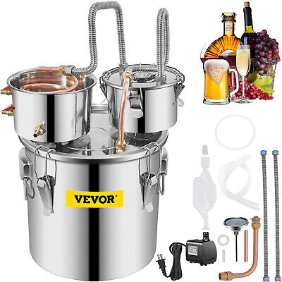 AU149.93 • Buy 3 Pots 10Gal / 38.5L Water Wine Alcohol Distiller Gas Stove Stainless Boiler