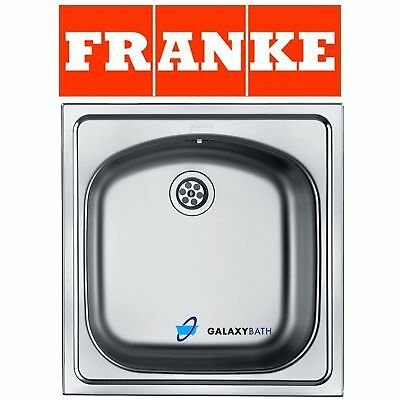 Franke Eurostar Single 1.0 Bowl Inset Waste Stainless Steel Square Kitchen Sink • 49.99£