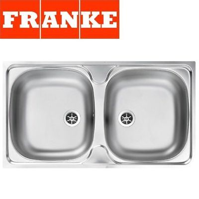Franke Colibri Double 2.0 Bowl Stainless Steel Square Kitchen Sink Inset & Waste • 65.99£