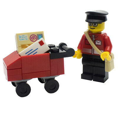 £9.99 • Buy LEGO Postman Minifigure And Post Trolley CITY TOWN