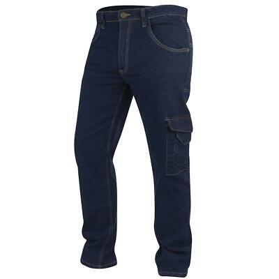 Lee Cooper Workwear Mens Stretch Cargo Combat Carpenter Work Denim Jeans Pants • 29.99£