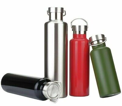 £25.16 • Buy Thermos Flask Water Bottle Double Wall Stainless Steel Leak Proof Travel Tea Mug