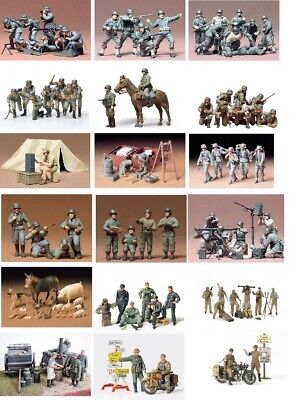 Tamiya Military Figures 1:35 Scale Choice Of Kits For Wargames, Dioramas • 19.99£