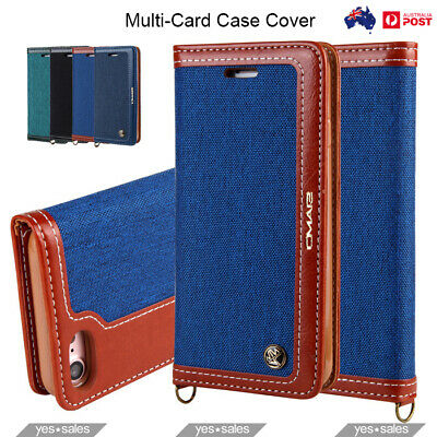 AU14.45 • Buy IPhone Xs 8 Plus Case Magnetic Flip Leather Wallet Multi Card Holder Stand Cover