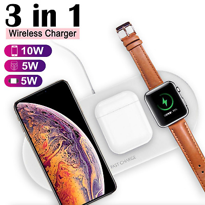 AU32.99 • Buy Multi Wireless Fast Charger 3 In 1 For Apple Watch IPhone Samsung Huawei OPPO