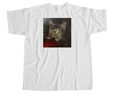 £14.99 • Buy Renaissance Cat T Shirt Down Picture Reaction Face Meme Retro Laugh