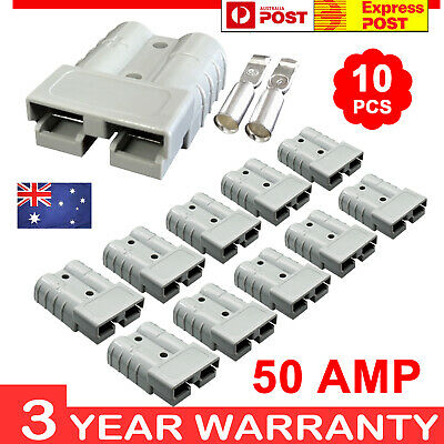 AU15.50 • Buy 10 X Anderson Style Plug Connectors 50 AMP 64WG 12-24V DC Power Tool