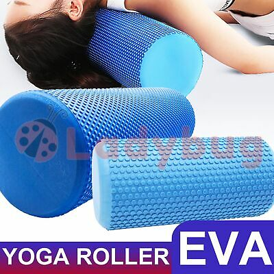 AU28.35 • Buy EVA Yoga Foam Roller Physio Back Training Pilates GYM Home Back Exercise Massage