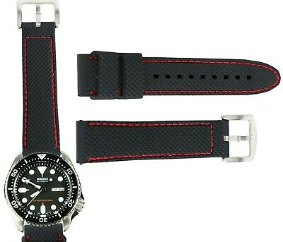 $ CDN13.46 • Buy Mens Watch Silicone Band Sport Rubber Strap 22mm For Seiko Skx007 Skx007k2