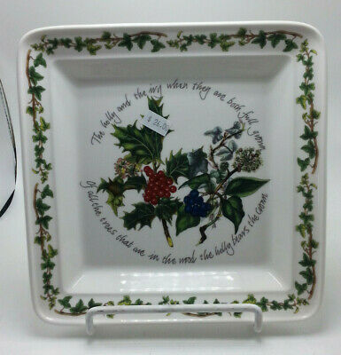 Portmeirion The Holly And The Ivy Square Plate  Christmas Holly & Ivy  • 15$