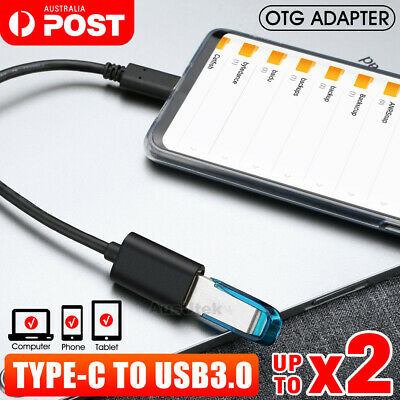 AU11.95 • Buy USB 3.1 Type C To USB 3.0 Female OTG Charging Data Cable Converter Adapter Lead