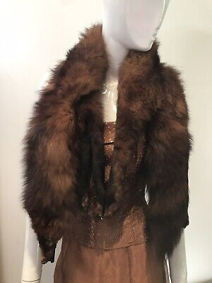 French Glamour Red Fox Taxidermy Fur Stole • 180£
