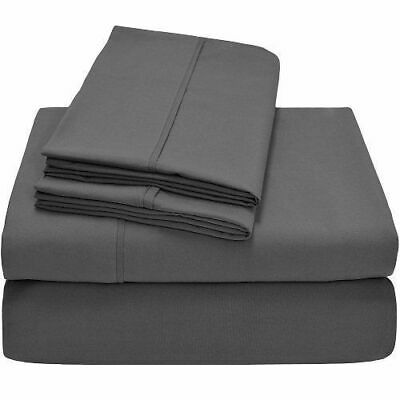 600~800~1000tc Dark-grey Solid Sheet/duvetset/fitted 100%egyptian Cotton Uk~size • 61.98£