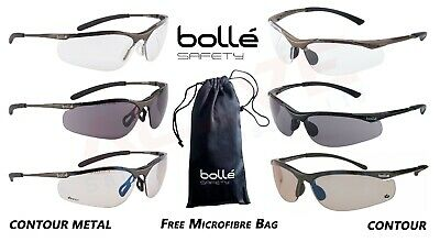 £12.99 • Buy Bolle Safety Glasses Spectacles CONTOUR / CONTOUR METAL Eye Protection Free Bag