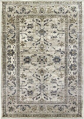 £44.95 • Buy Beige Rug Classic Vintage Design Timeless Traditional Faded Distressed