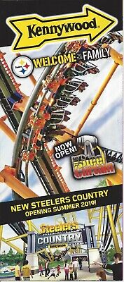 "$1.99 • Buy 2019 Kennywood Brochure Guide Map (Version 2) ""The Steel Curtain"""
