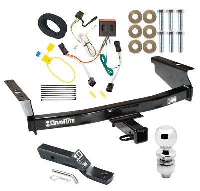 $244.86 • Buy Trailer Tow Hitch For 02-07 Jeep Liberty Complete Package W/ Wiring & 2  Ball