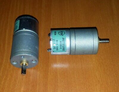 $29.99 • Buy Lot Of 2 HP Mitsumi  M25E-3  DC Motors W/Gearheads  CW/CCW  Super Fast Shipping