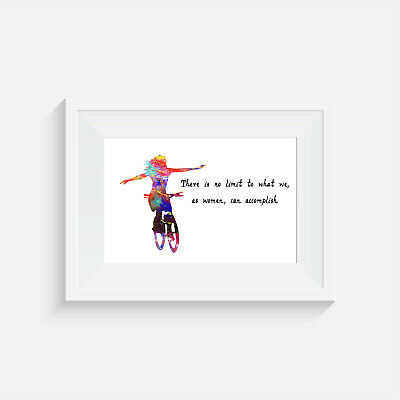 Female Cyclist, Print, Poster, Picture, Gift, Wall Art, Home Decor, Cycling • 4.25£