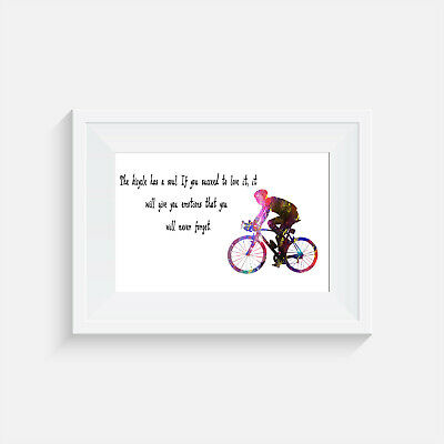 £3.95 • Buy Cyclist, Print, Poster, Picture, Gift, Wall Art, Home Decor, Cycling, Bike Quote