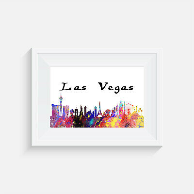 Las Vegas, Print, Poster, Picture, Gift, Wall Art, Home Decor, Travel, City • 5.99£
