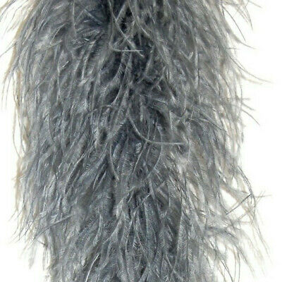£64.46 • Buy 4 Ply OSTRICH FEATHER BOA - SILVER 2 Yards; Costumes/Craft/Bridal 72