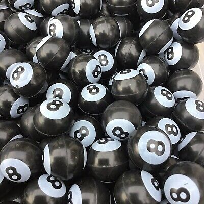 $9.99 • Buy 12 Pool Billiard 8 Ball Rubber Bouncy Super Balls Party Favors ~1in (27mm)