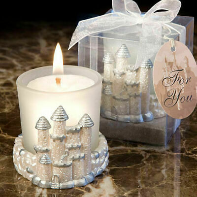 12-72 Once Upon A Time Fairy Tale Castle Candle - Wedding Favors • 31.30£