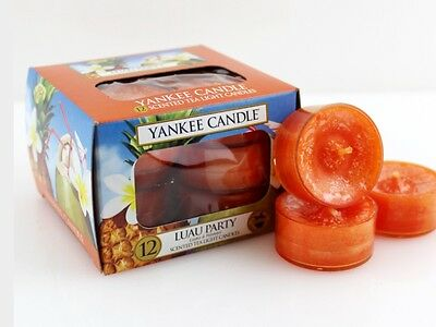 Gorgeous Yankee Luau Party Tealights - Retired Fragrance Htf In UK  • 18.95£