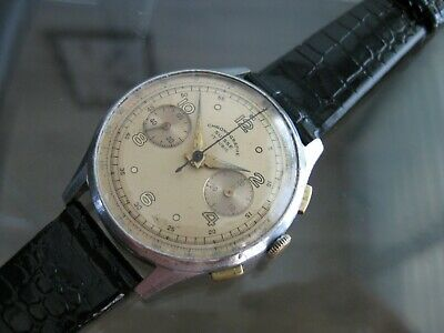 $ CDN607.54 • Buy Vintage And Rare Chronograph Suisse Venus  17 Jewels Swiss Made Wristwatch