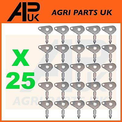 25 X Massey Ferguson Ford County Tractor Ignition Switch Spare Keys Lucas Type • 12.95£