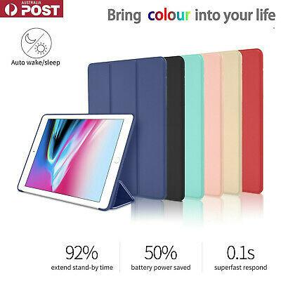 AU15.15 • Buy Silicon Smart IPad Cover Case Stand For IPad 8th 7th 6th 5th Gen Air 2 4 Mini 5