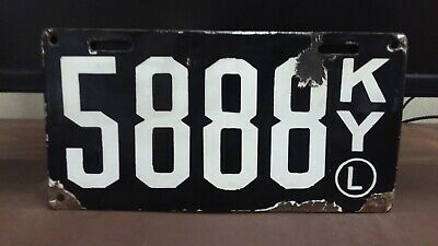 $ CDN1813.79 • Buy 1911 Kentucky PORCELAIN 'L  Second Issue License Plate Tag