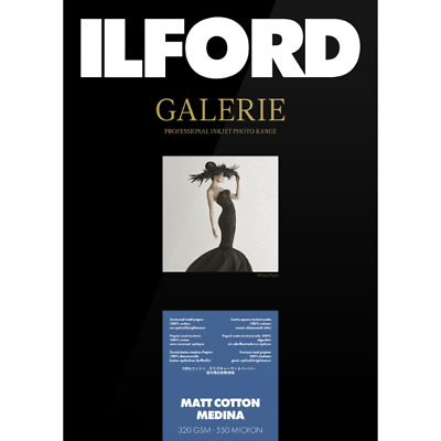 ILFORD GALERIE MATT COTTON MEDINA  320 GSM 4 X6  50 SHEETS • 17.19£